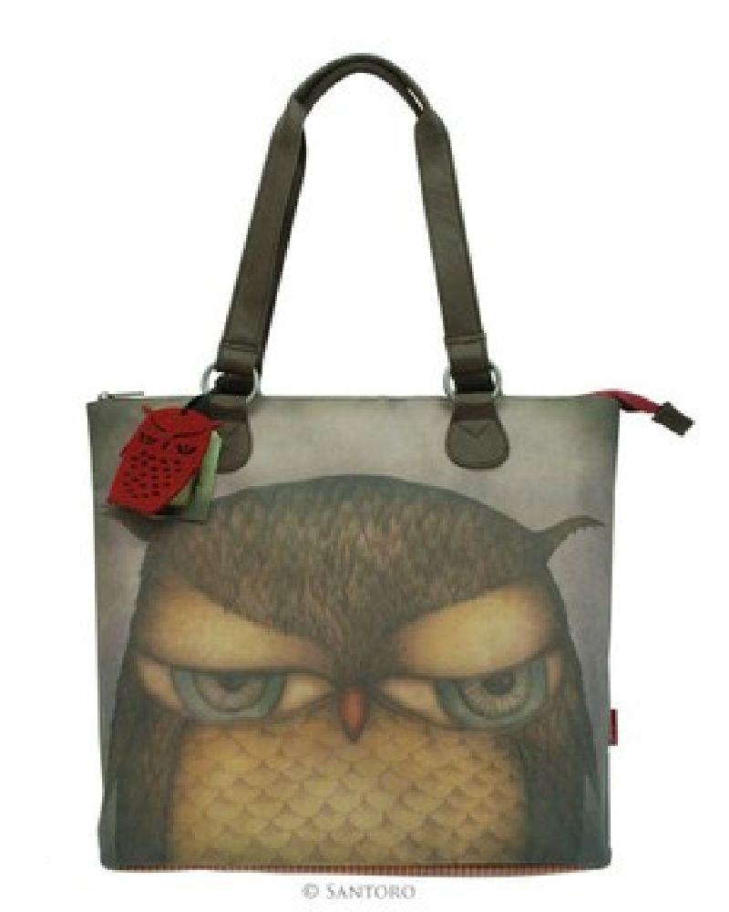 Geanta umar,26x33x8cm,Grumpy Owl