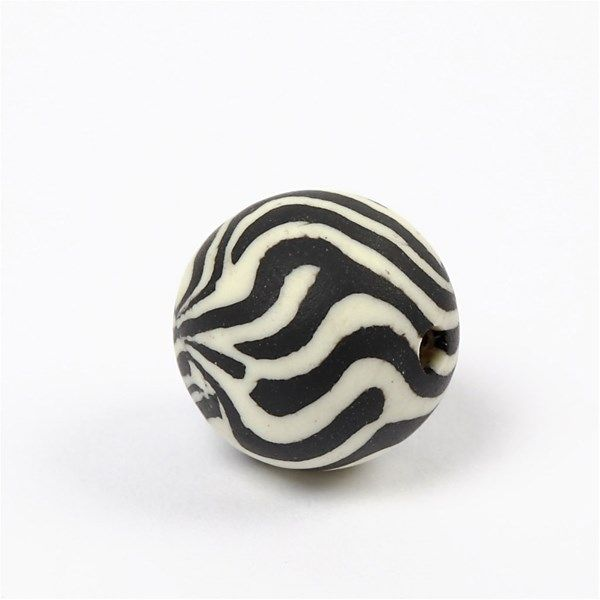 Margele ceramica,20mm,rotunde,zebra,8b/s