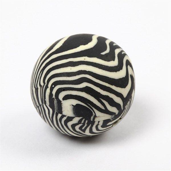 Margele ceramica,15mm,rotunde,zebra,12b