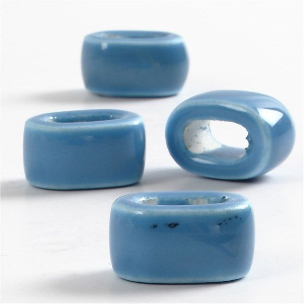 Margele ceramica,18mm,plate,albastru,4b