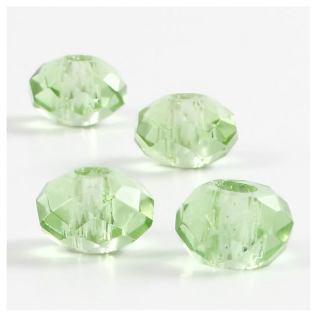 Margele sticla,9x14mm,fatetate,verde,4b