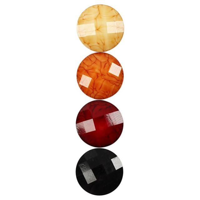 Caboson sticla,14mm,rosu,24buc