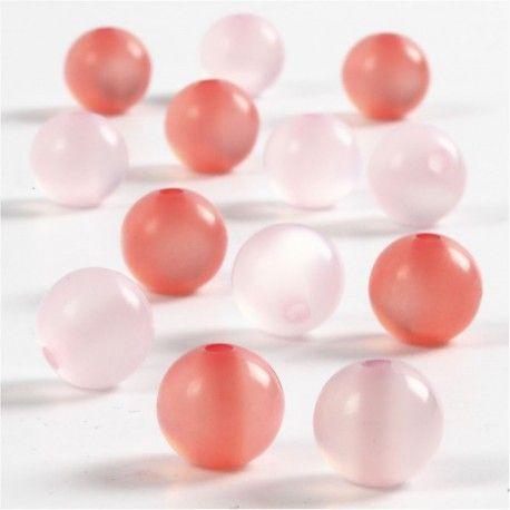 Margele rasina,10mm,rotunde,roz,25b