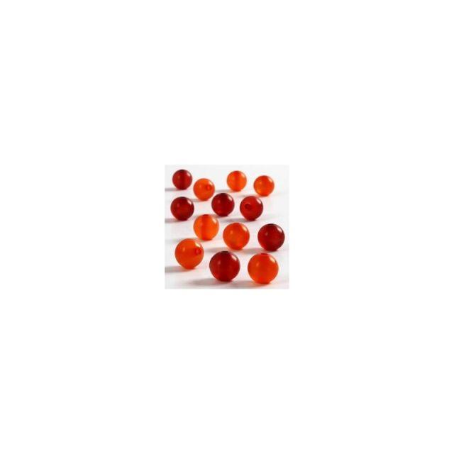 Margele rasina,10mm,rotunde,rosu/orange,25b