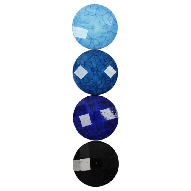 Caboson sticla,14mm,albastru,24buc