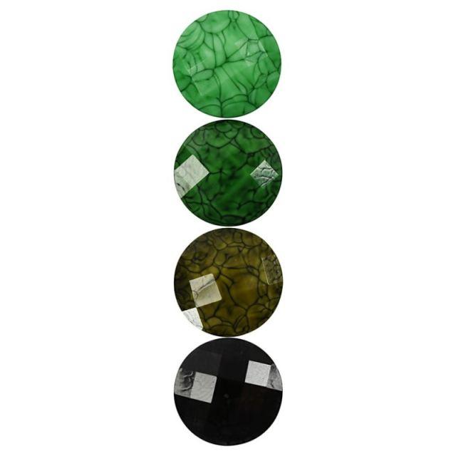 Caboson sticla,14mm,verde,24buc