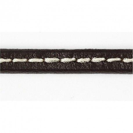 Curelusa piele,10mmx20cm,cusatura,maro