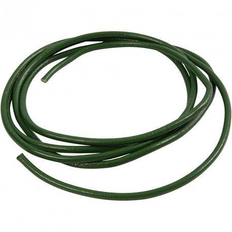 Snur piele,4mmx2m,verde
