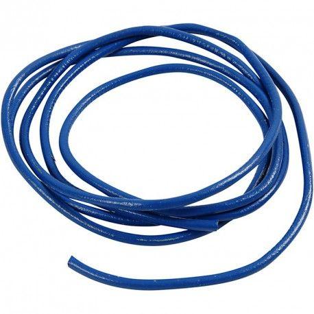 Snur piele,4mmx2m,albastru
