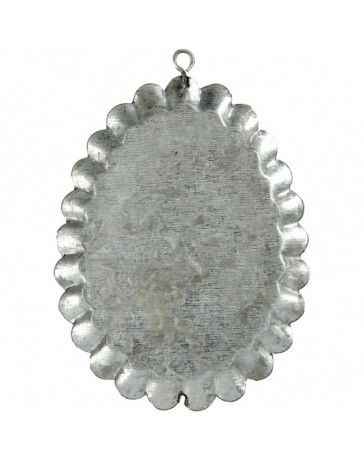 Ornament metalic pt decorat,9.8x7.5cm,3b