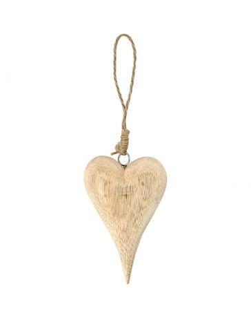 Inima decorativa,lemn,12x2cm