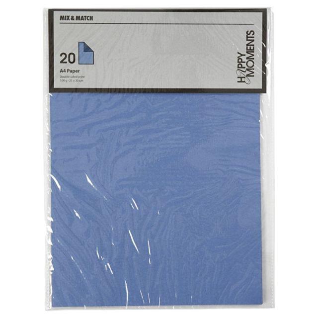 Hartie A4,100g,20coli/set,bleu/albastru