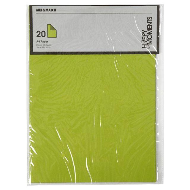 Hartie A4,100g,20coli/set,vernil/verde