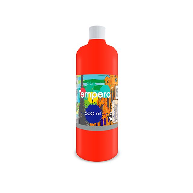 Tempera,500 ml,portocaliu neon