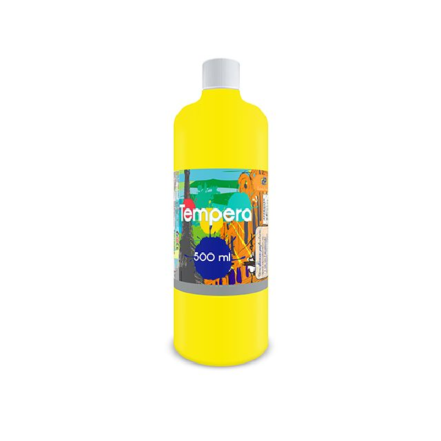 Tempera,500 ml,galben neon