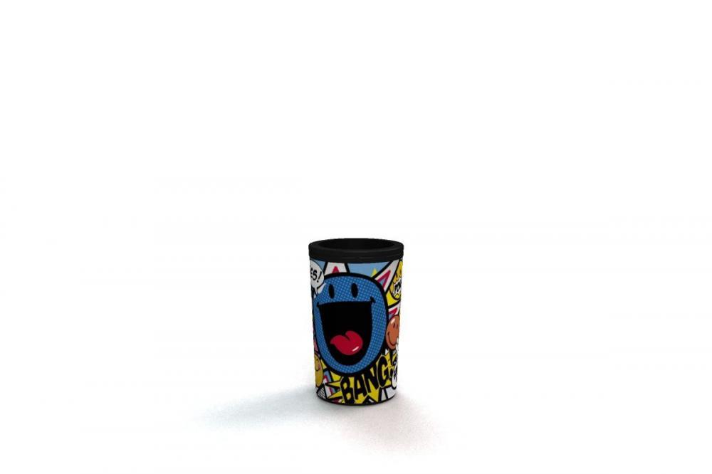 Ascutitoare cu container,Smiley Cartoon