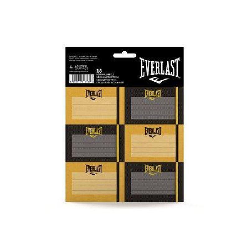 Etichete scolare,18/set,Everlast,negru