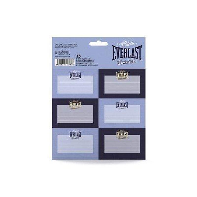 Etichete scolare,18/set,Everlast,albastru