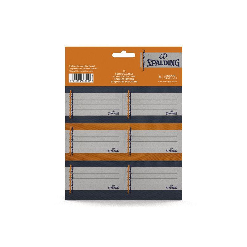 Etichete scolare,18/set,Spalding,orange