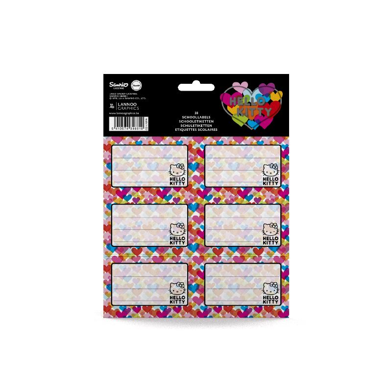 Etichete scolare,18/set,Hello Kitty Hugs