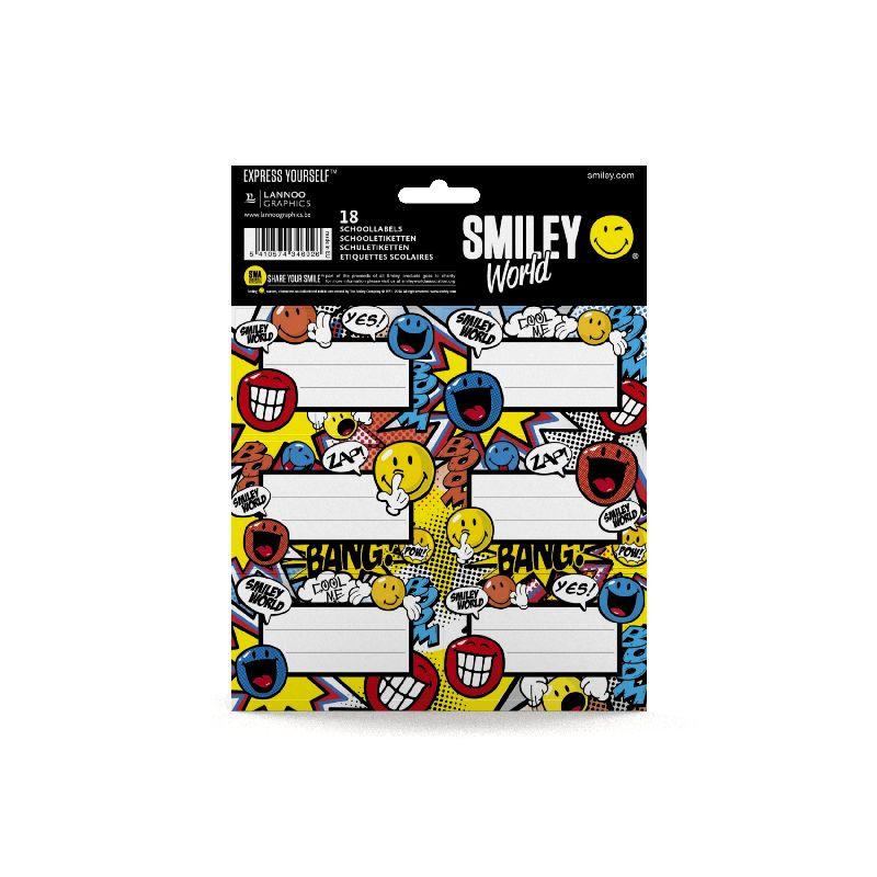 Etichete scolare,18/set,Smiley Cartoon