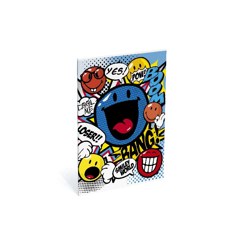 Caiet A4,40file,dict,Smiley Cartoon