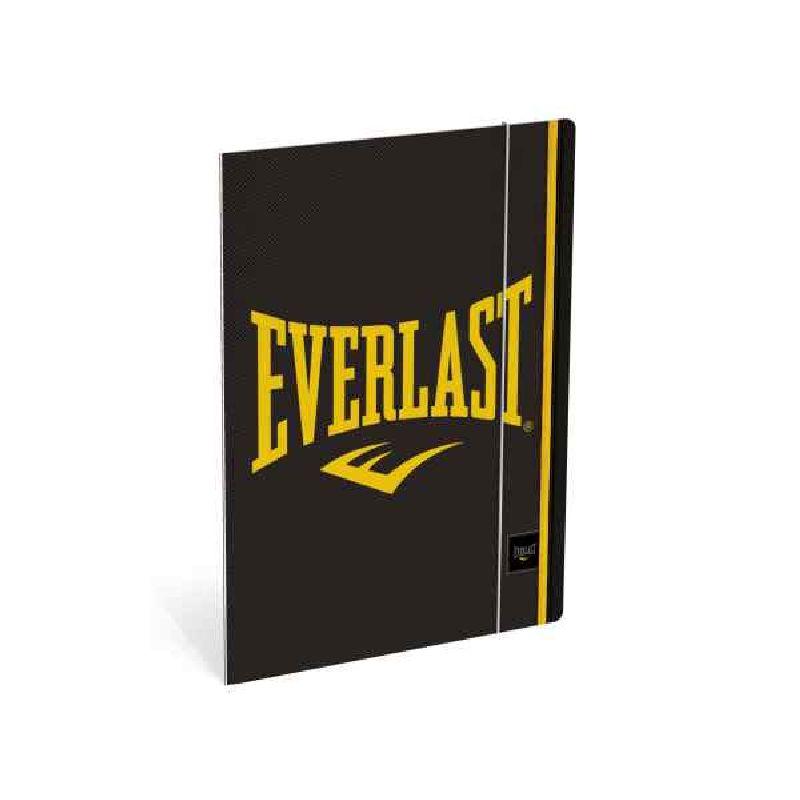 Mapa cu elastic,A4,Everlast,negru/galben