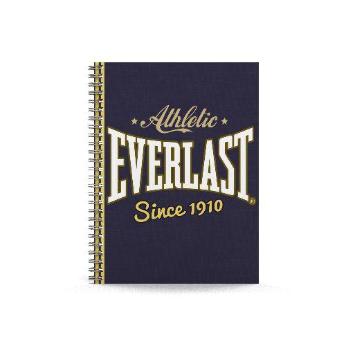 Caiet spira A5,80f,dict,Everlast,albastru