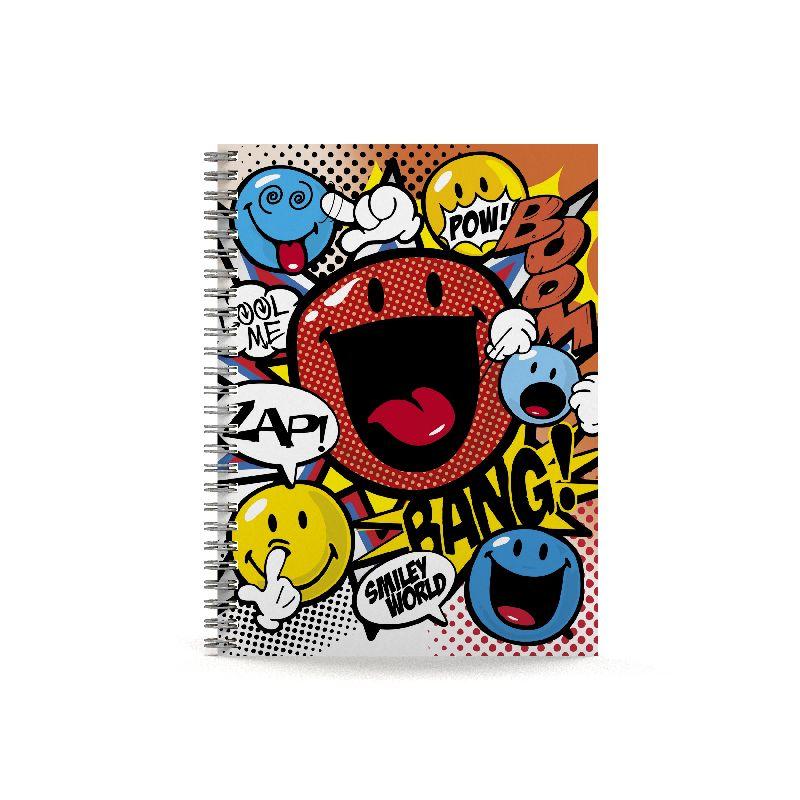 Caiet spira A5,80f,dict,Smiley Cartoon