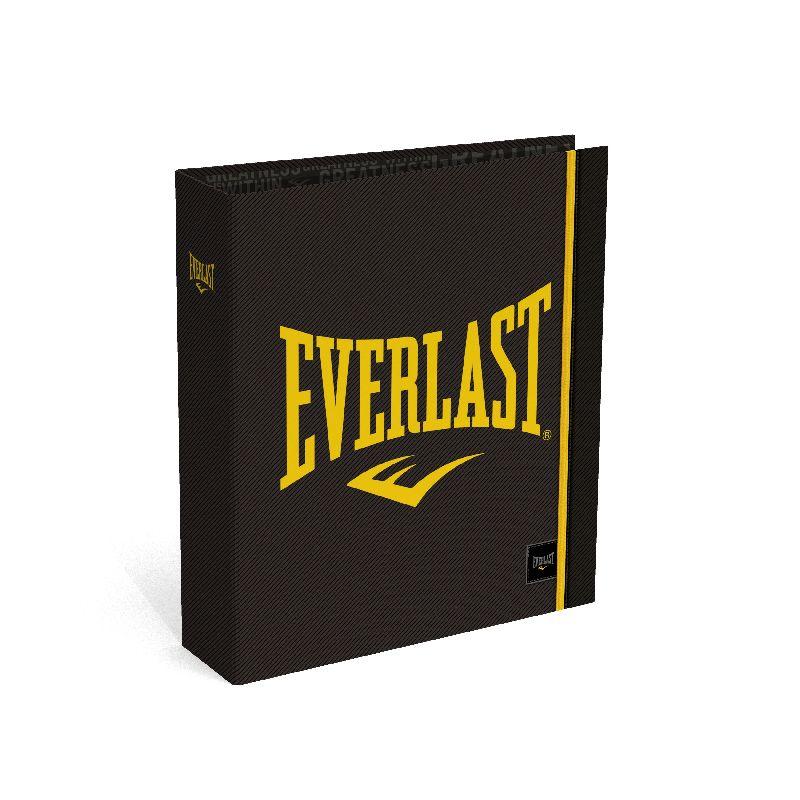 Biblioraft A4,8cm,Everlast,negru/galben
