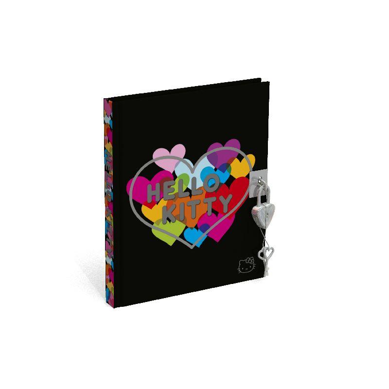 Jurnal cu lacat,15x18cm,Hello Kitty Hugs