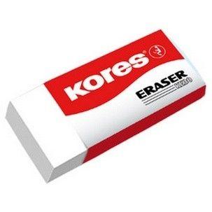 Radiera Kores KE-30,alba,4x2.1x1cm