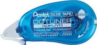 Roller cu lipici Pentel,7mmx8.5m,albastru