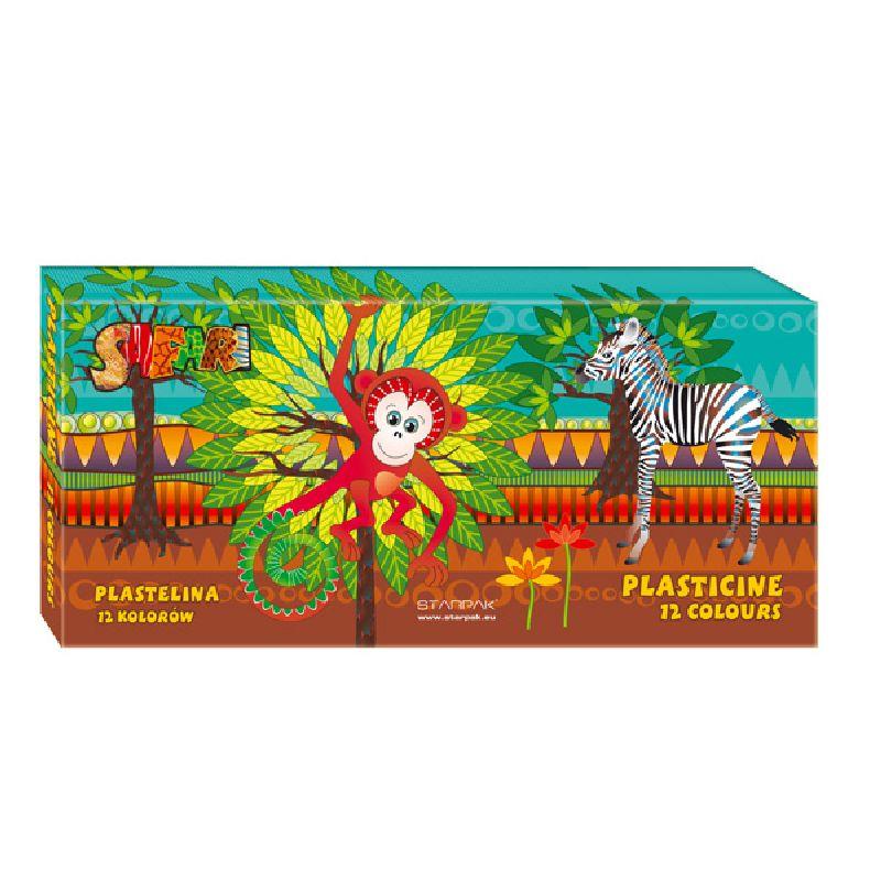 Plastilina Safari,12culori/set