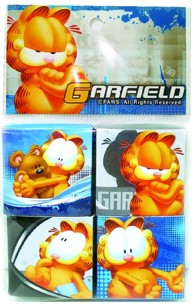 Radiera Garfield,4buc/set