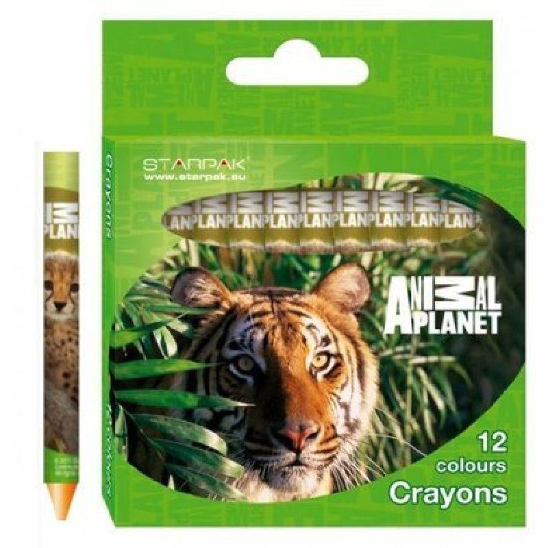 Creioane cerate,12buc/set,Animal Planet