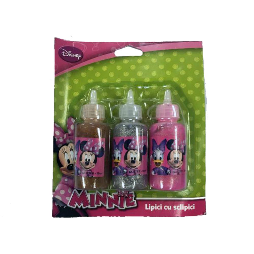Lipici cu glitter,3/set, Minnie