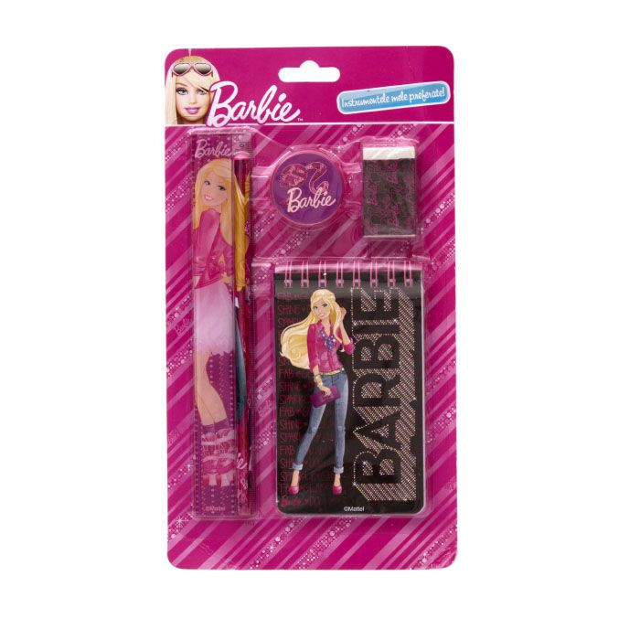 Set instrumente cu notes,Barbie