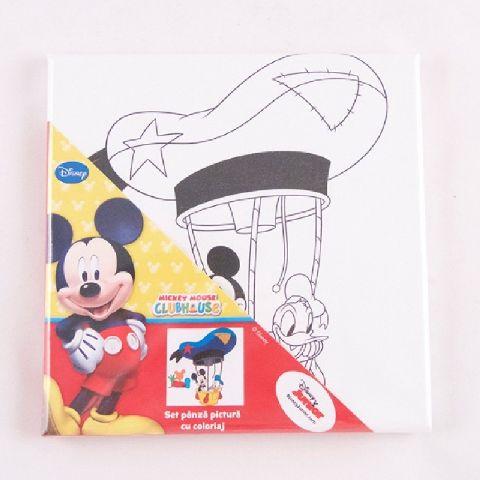 Panza pictura 20x20cm cu coloriaj,Mickey