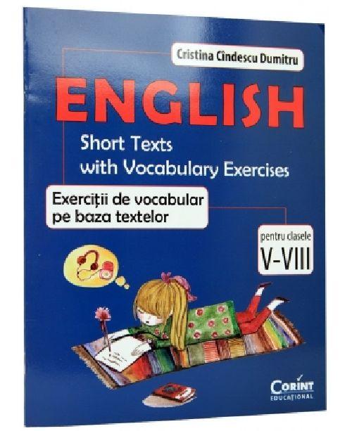 ENGLISH. EXERCITII DE VOCABULAR PE BAZA TEXTELOR CLS V-VIII