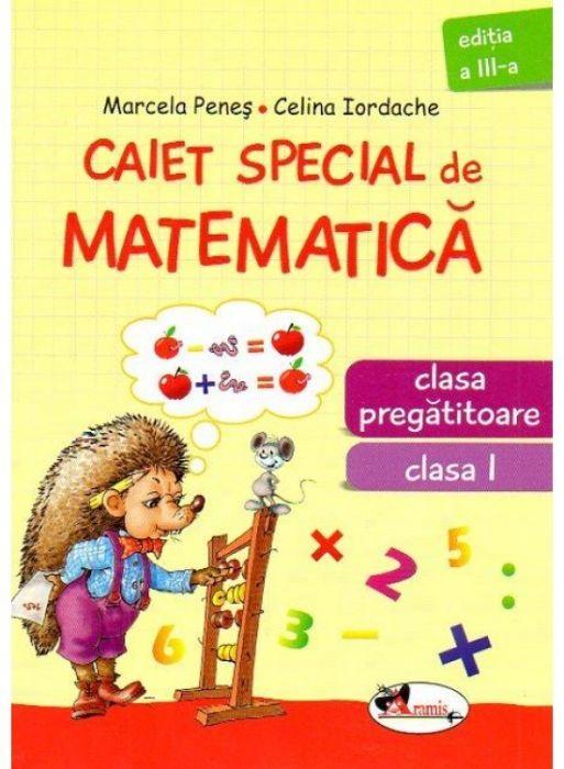 CAIET MATEMATICA ARICEL  PREGATITOARE + CLS 1