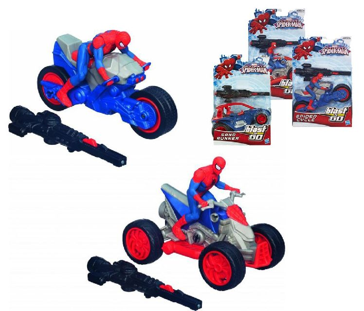 Spiderman Blast N Go racer