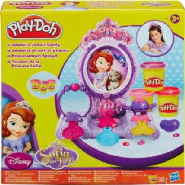 Play Doh amulet and jewels vanity