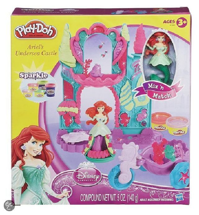 Play Doh Disney princess ariels castle