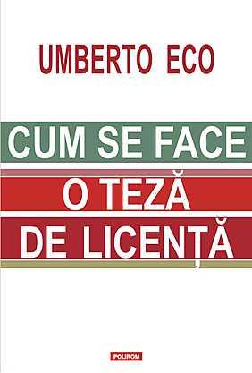 CUM SE FACE O TEZA DE LICENTA...