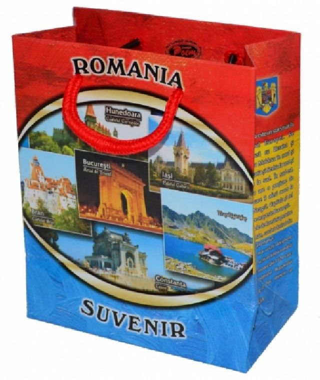 Punga cadou Romania 12x14x7cm