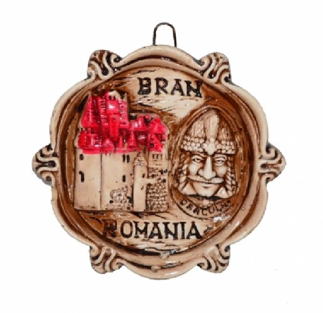 Plachet din gips Bran Romania 8cm