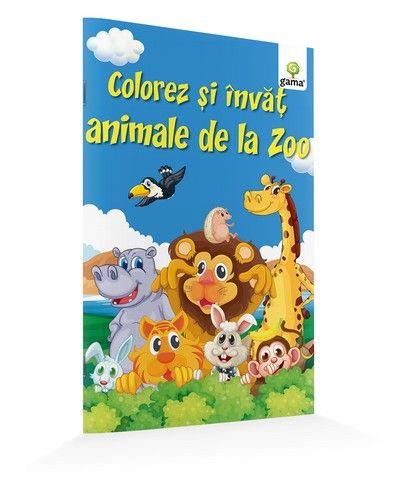 COLOREZ SI INVAT ANIMALE DE LA ZOO/ A5.14