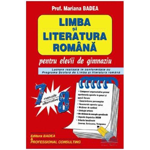 LIMBA SI LITERATURA ROMANA PT CL DE GIMNAZIU 7-8