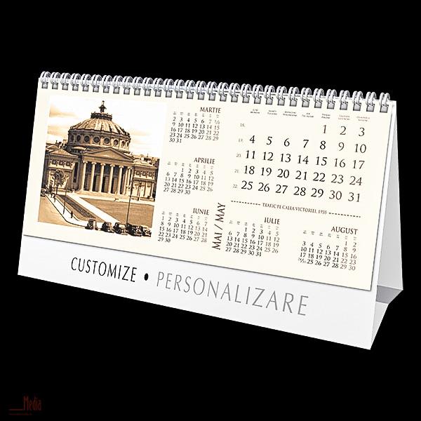 Calendar birou23x11cm,Bucuresti,12f,2015